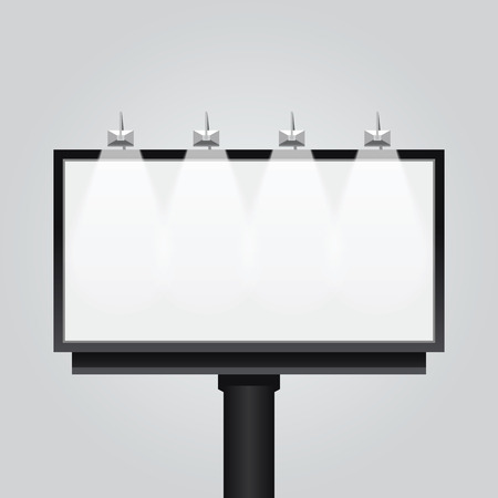 Illustration for Vector empty billboard signsignboard modern banner isolated. design for advertising - Royalty Free Image