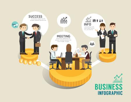 Photo pour Business stock market board game flat line icons concept infographic step to successful,vector illustration - image libre de droit