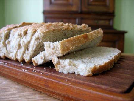 Homemade bread for breakfast