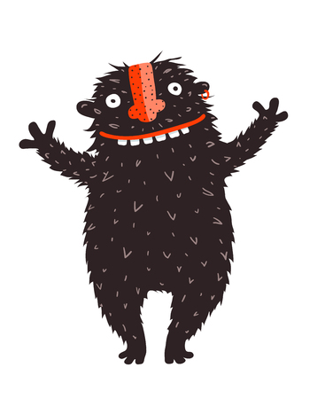 Illustration for Cartoon design of quirky monster vector graphics. - Royalty Free Image