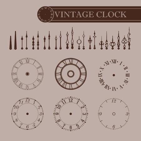 Vintage clock part
