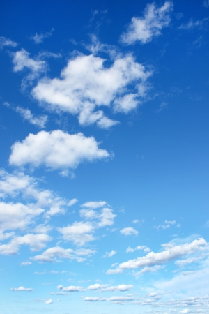 Blue sky with clouds, for backgrounds or textures