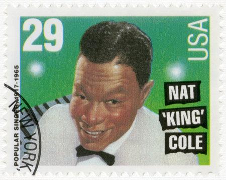 USA - CIRCA 1994: A stamp printed in USA shows Nat King Cole (1919-1965), circa 1994