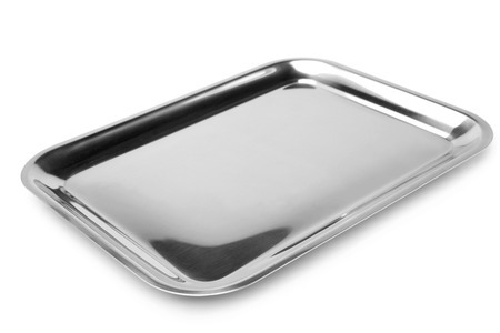 Serving tray on white background
