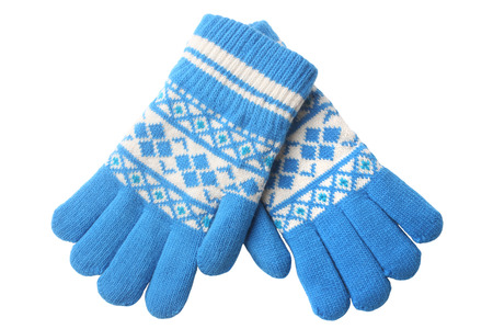 Photo pour Warm woolen knitted gloves isolated on white background - image libre de droit