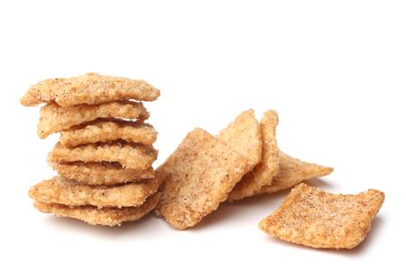 Foto für Cinnamon toast crunch on white background - Lizenzfreies Bild