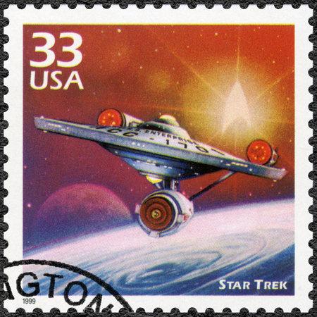 UNITED STATES OF AMERICA - CIRCA 1999: A stamp printed in USA shows Star Trek, series Celebrate the Century, 1960s, circa 1999
