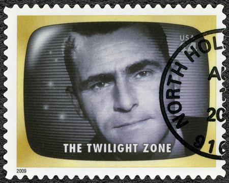 Photo for UNITED STATES OF AMERICA - CIRCA 2009: A stamp printed in USA shows The Twilight zone, Early TV Memory, circa 2009 - Royalty Free Image