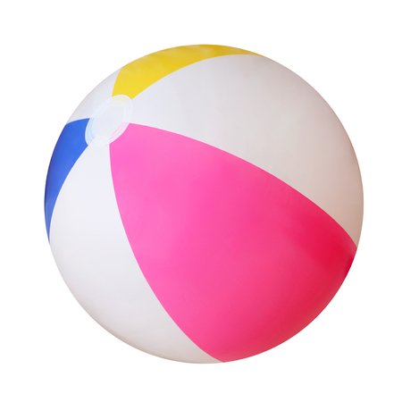 Foto de Beach ball isolated on white background - Imagen libre de derechos