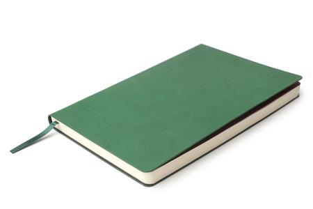 Green datebook on  white background