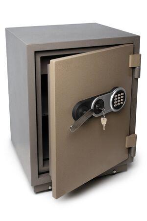 Photo pour Open safe box on white background - image libre de droit