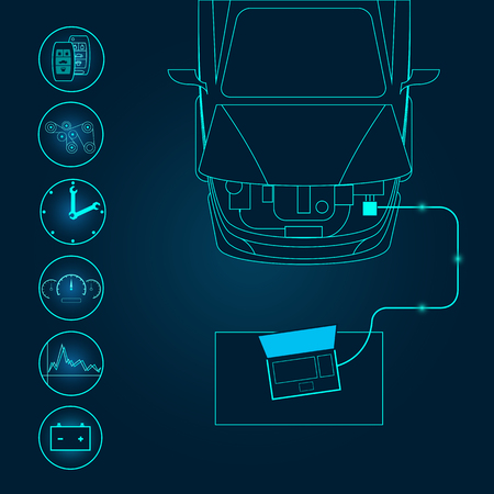 Ilustración de Automotive diagnostic repair icon. Vector illustration. - Imagen libre de derechos