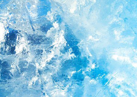 Photo pour Abstract ice texture. Blue ice, arctic ice background.                                - image libre de droit