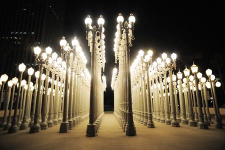 urban light at los angeles museum of art