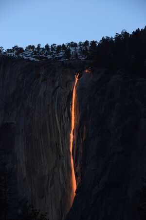 horsetail firefalls at yosemite national park