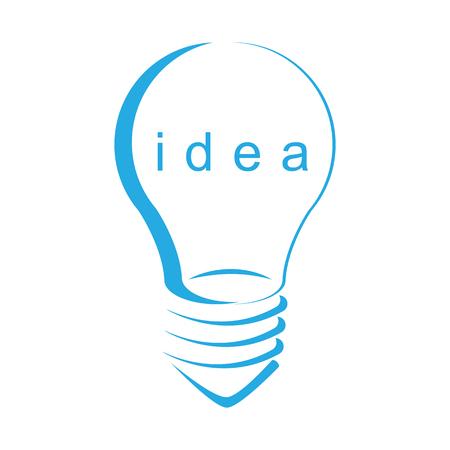 Light idea symbol isolated white