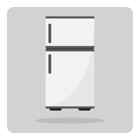 Vector of flat icon, refrigerator on isolated background