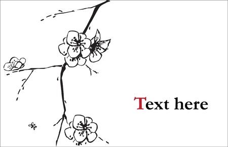 Illustration pour Cherry blossom illustration - image libre de droit