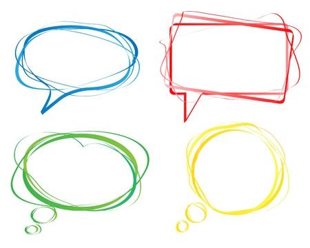 Illustration pour Set of colorful speech bubbles - image libre de droit