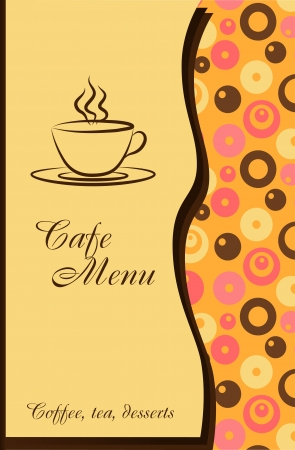 Design of a cafe menu