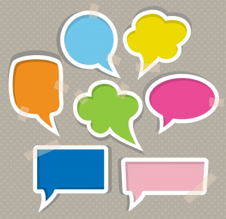Illustration for Set of colorful speech bubbles - Royalty Free Image