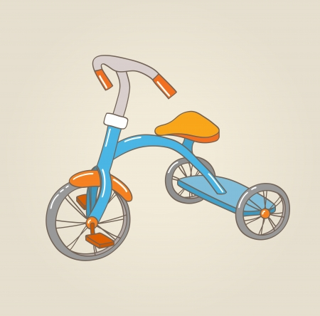 Kid s tricycle, vector illustration