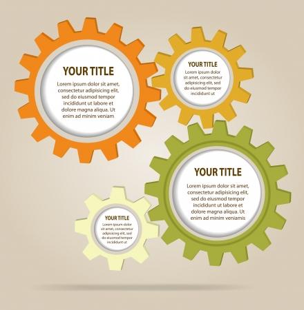 Illustration pour Abstract color gear wheels  Vector design template - image libre de droit