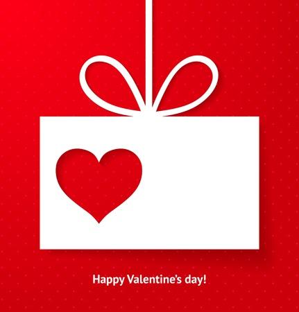 Valentine s applique card background  illustration for your design