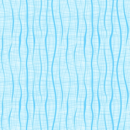 Vertical blue wavy stripes and lines  Retro seamless pattern