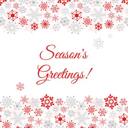 Ilustración de Greetings card with snowflakes Illustration - Imagen libre de derechos