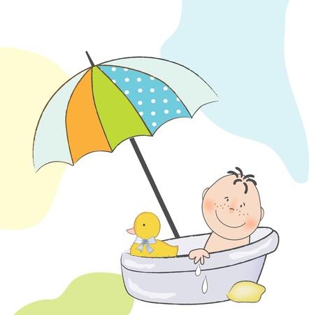 Illustration pour baby shower announcement  - image libre de droit