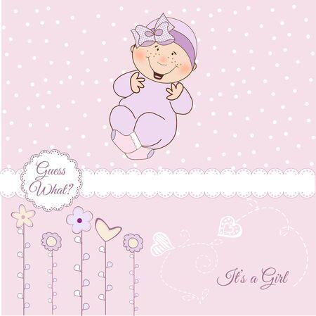 Illustration pour welcome, baby announcement card  - image libre de droit