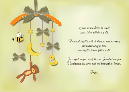 Illustration pour baby announcement card  - image libre de droit