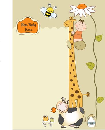 Illustration pour new baby arrived  - image libre de droit