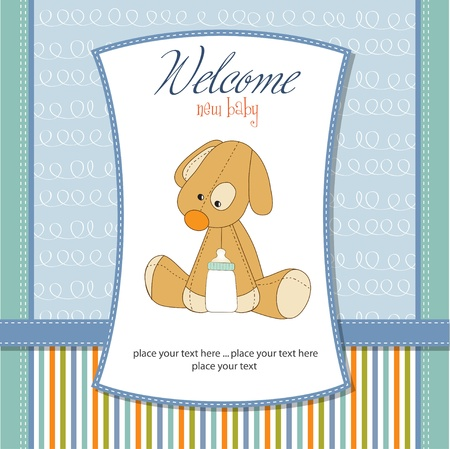 Illustration for welcome new baby boy - Royalty Free Image