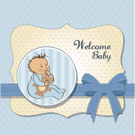 romantic baby boy shower card