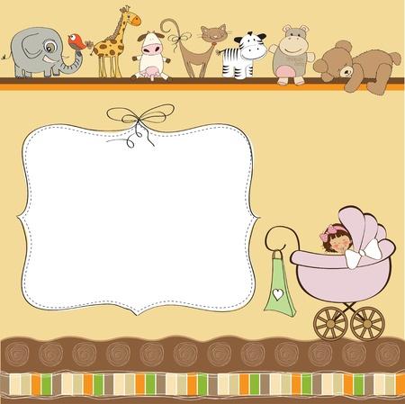Illustration pour baby shower card  - image libre de droit