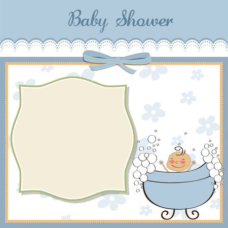 Illustration for baby boy shower card - Royalty Free Image