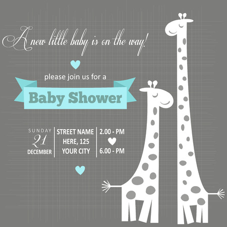 Photo pour baby boy shower card , vector illustration - image libre de droit