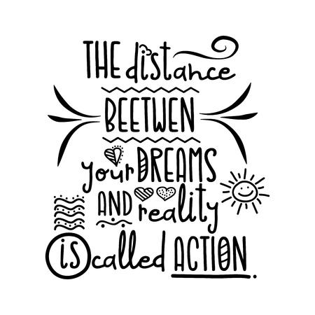 Illustration pour Modern inspirational quote, black and wite vector - image libre de droit