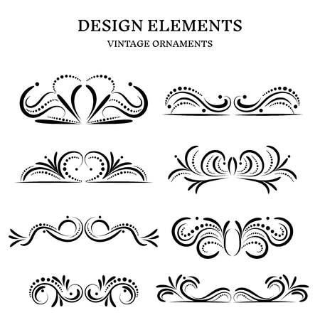Illustration pour vintage design ornaments set, vector format - image libre de droit