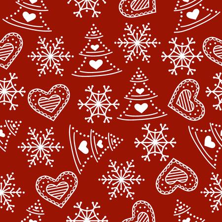Ilustración de Christmas seamless pattern. Christmas background. Christmas wrapping paper. Flat design. Vector - Imagen libre de derechos