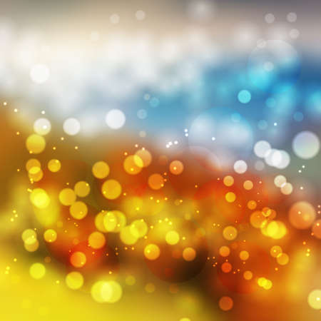 Photo pour Amazing colorful bokeh abstract background. Vector format - image libre de droit
