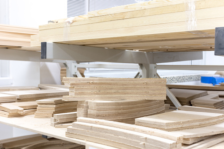 wooden blocks in the carpentry shop furniture