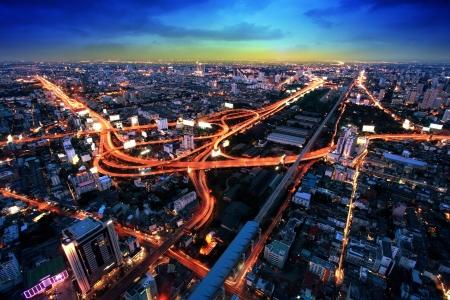 Foto de Bangkok Expressway and Highway top view, Thailand  - Imagen libre de derechos