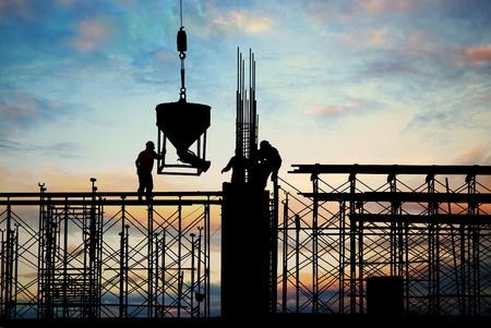 Foto für construction silhouette - Lizenzfreies Bild