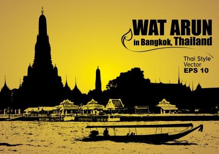 Wat Arun in bangkok thailand, Vector