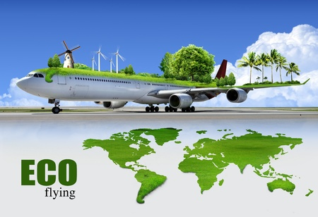 ecological air travel, concept