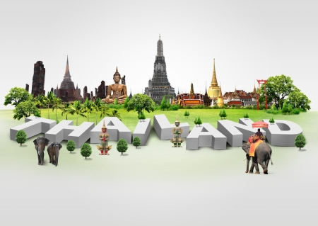 Photo for Thailand travel background and infographic, concept - Royalty Free Image