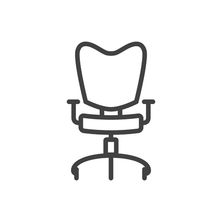 Isolated Office Chair Outline Symbol On